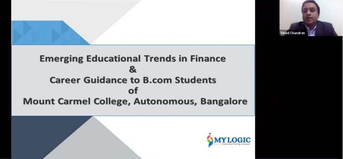 """Webinar held for Mount Carmel College, Autonomous on """"Emerging Trend in Finance to be an Employable Workforce"""""""