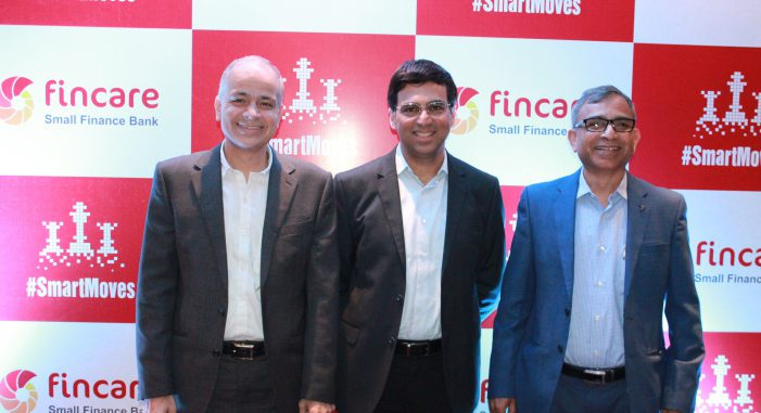 Viswanathan Anand is Brand Ambassador for Fincare's Digital Savings Account