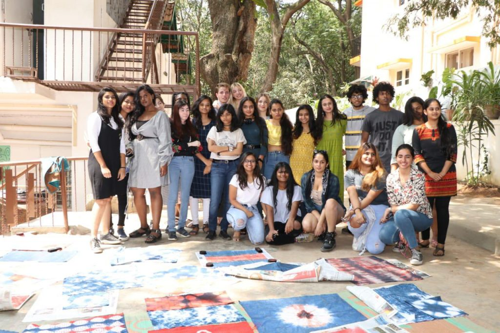 East meets West - French students work onnatural fabric dyes in Bengaluru