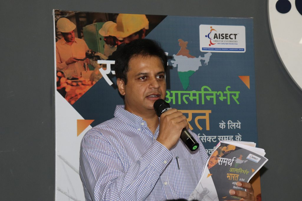 Mr. Santosh Kumar Choubey, the Chancellor of AISECT Group of Universities