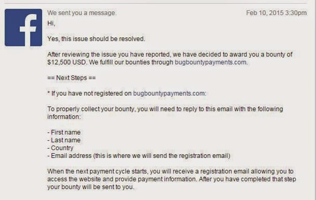 Indian Techie recieves $12500 for discovering Facebook Bug