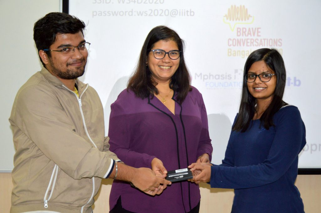 (L-R) Parth Trehan, Elsa D'Silva (CEO, Red Dot Foundation) and Tripti Agarwal