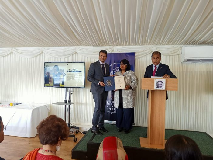 Bhopal's Rabindranath Tagore University receives the Global League Institution Certification at the House of Commons in London