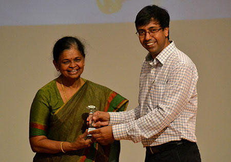 Ms.Rama N.S.(CEO of ELCIA) with Dr Rajesh Panda (Dir. SIBM)
