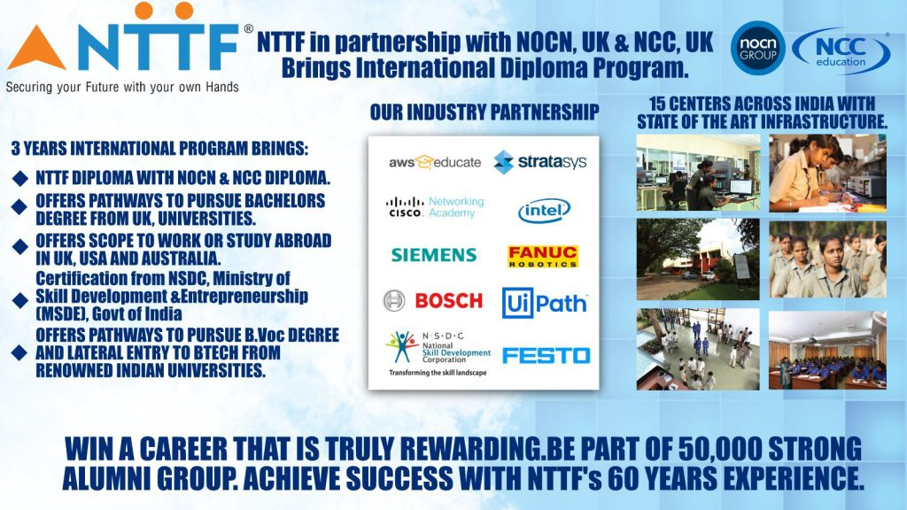 NTTF 's International Diploma Programs and Career Pathways