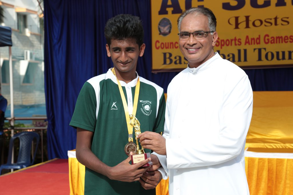 Rohan Raghavendran from Greenwood High bagged the award for the most valuable player of the tournament