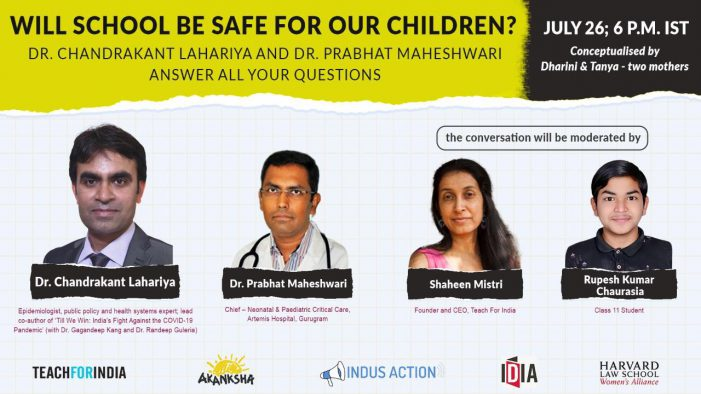 As some schools reopen across the country, health experts to answer questions on the safety of children
