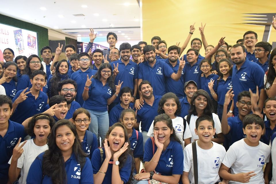 With Students during Super30 movie screening