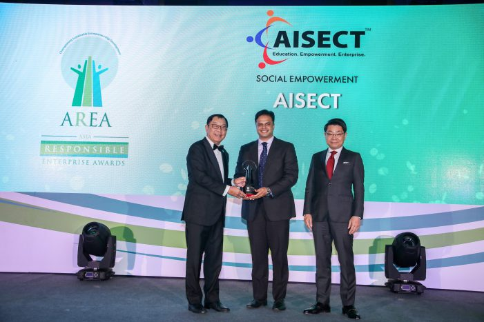 AISECT wins the Asia Responsible Enterprise Award 2019 in the Social Empowerment category