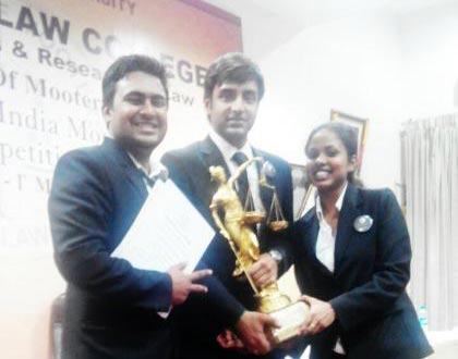 CMR Law School emerges winner of the Moot Court competition