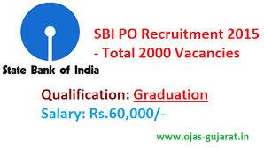 2,000 P.O. recruitment by SBI