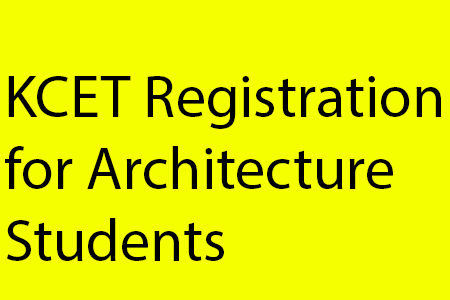 KCET Registration for Architecture students