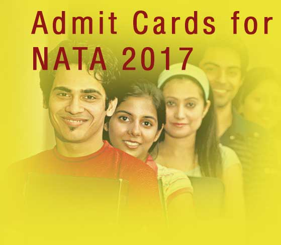 Admit Cards for NATA 2017 to be released on 28th March