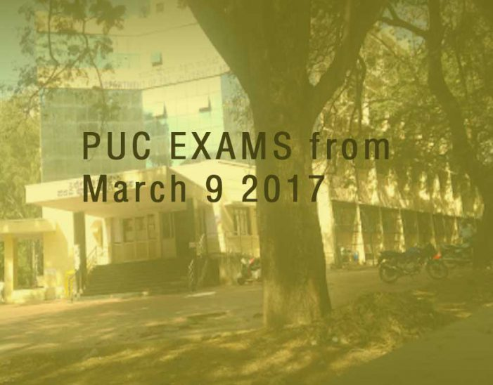 PUC (Karnataka) exams start from March 9 2017