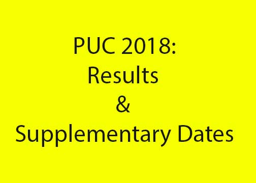 PUC Results Declared – 59.56% Pass; Supplementary June 8 to June 28, 2018