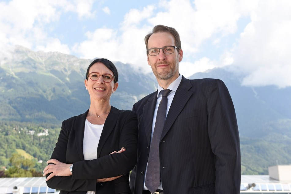 Susanne E. Herzog, Head of the Executive Education Department at MCI, and Markus Kittler, Academic Program Director, further developed the Executive PhD program in a highly professional manner with regard to the COVID requirements. © MCI (PRNewsfoto/MCI Management Center Innsbruck)