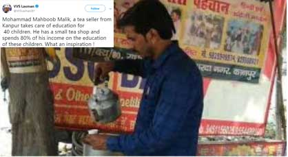 Big-Hearted Tea seller from Kanpur gets lauded by VVS